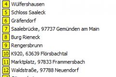 2012 Route Bildersuchfahrt liste