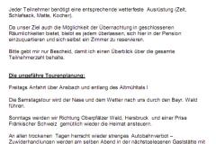 2012-09-21-23 Campingtour Bayerischer Wald_Ausschreibung