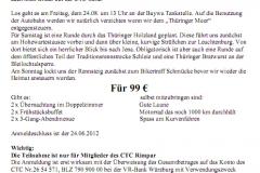 2012 Thüringen Ausschreibung