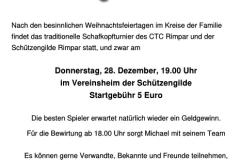 Einladung Schafkopfturnier 2017